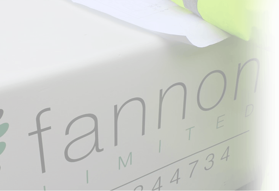 Image of Fannon logo on desk